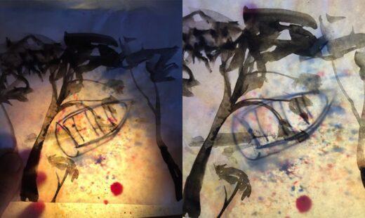 Transparent collage art workshop